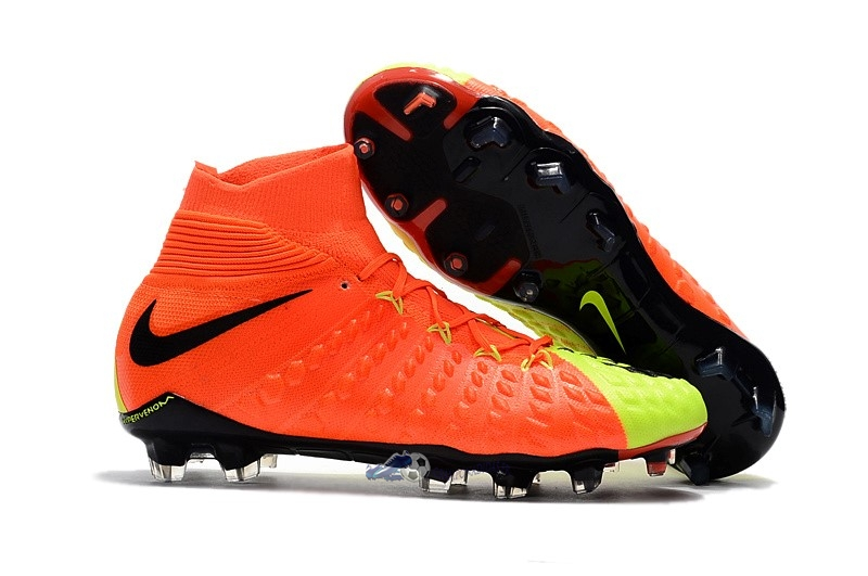 Chaussures De Football Nike Hypervenom Phantom III DF FG Fluorescent Orange 2019 Nouveaux