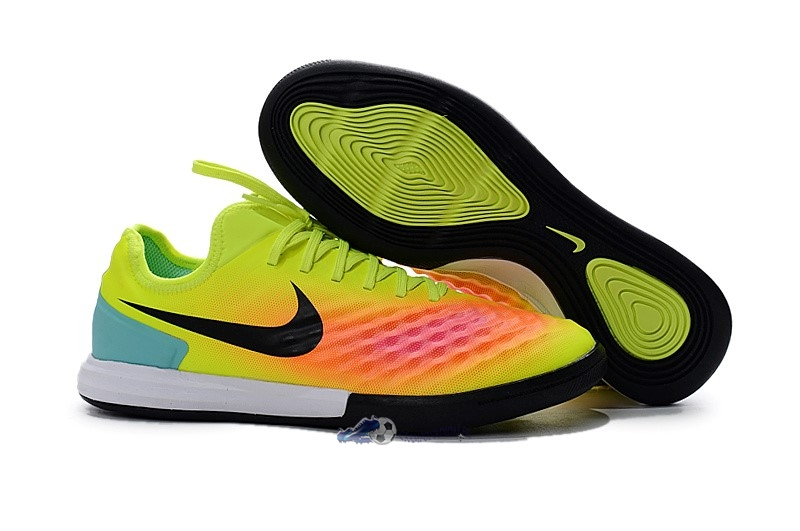 Chaussures De Football Nike MagistaX IC Jaune Orange 2019 Nouveaux