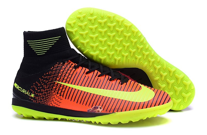 Chaussures De Football Nike MagistaX Proximo II TF Orange Rose Jaune 2019 Nouveaux