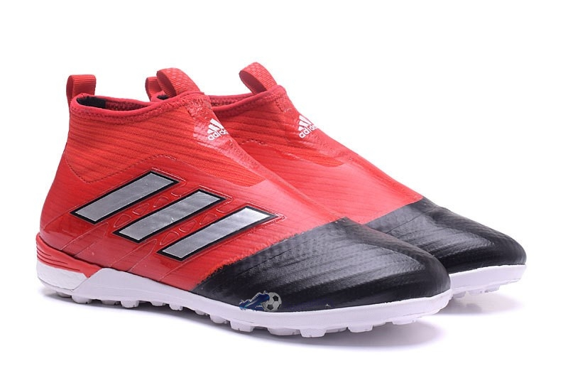 free shipping cfdc6 5b895 ... Chaussures De Football Adidas Ace Tango 17+ Purecontrol TF Rouge Noir  2019 Nouveaux ...