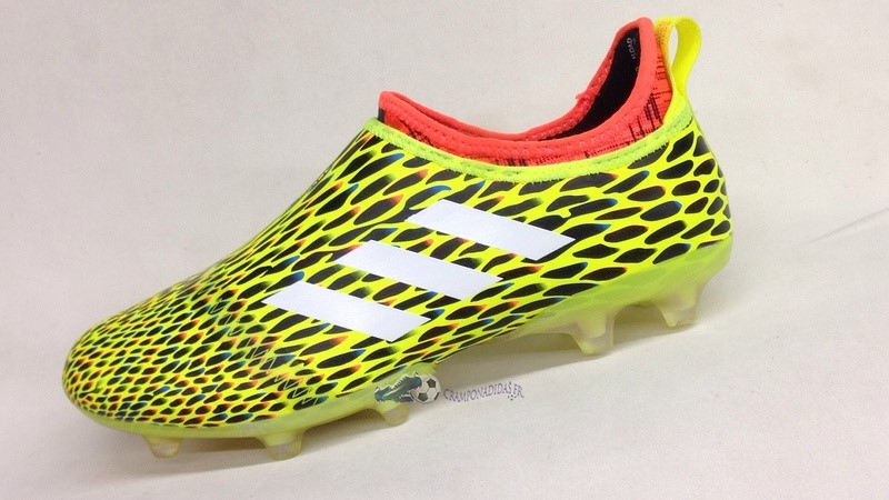 brand new 845b4 f54a4 ... Chaussures De Football Adidas Glitch Skin 17 FG Orange Jaune 2019  Nouveaux ...