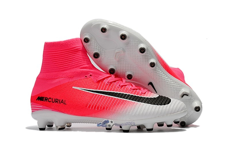 Chaussures De Football Nike Mercurial Superfly V AG Blanc Rose 2019 Nouveaux