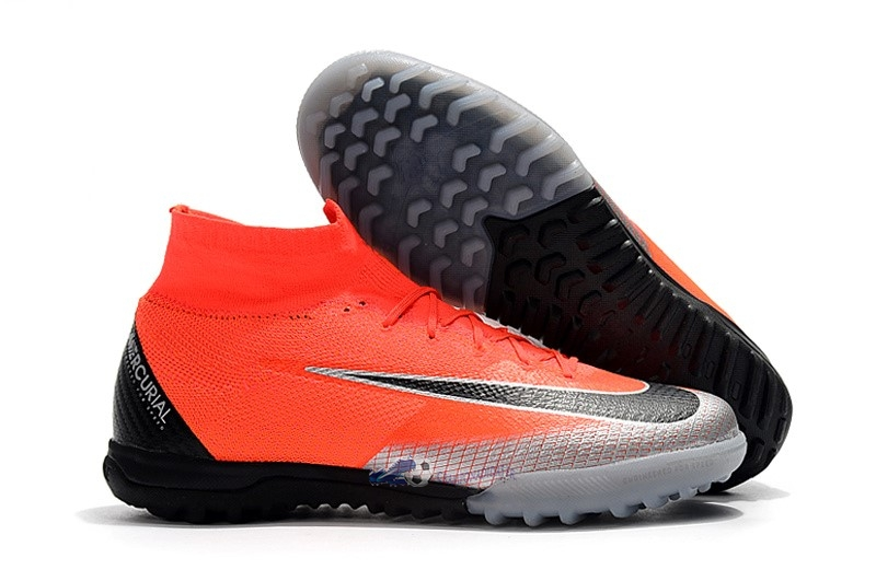Chaussures De Football Nike Mercurial Superfly VI Elite CR7 TF Orange 2019 Nouveaux