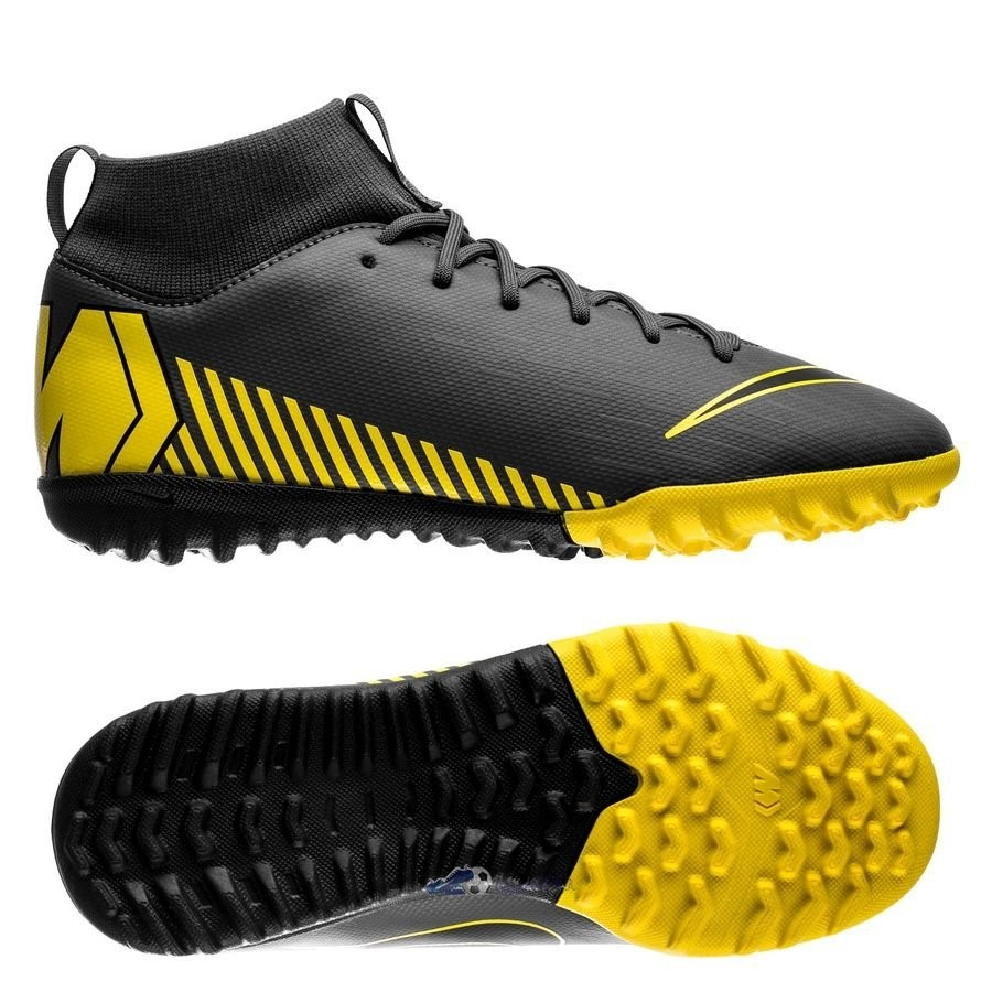 Chaussures De Football Nike Mercurial Superfly 6 Academy Enfant TF Game Over Noir 2019 Nouveaux