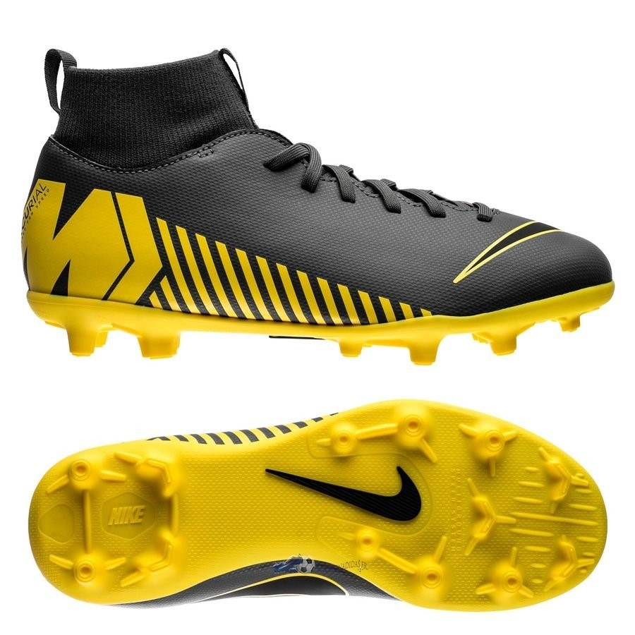 Chaussures De Football Nike Mercurial Superfly 6 Club Enfant MG Game Over Gris Jaune 2019 Nouveaux