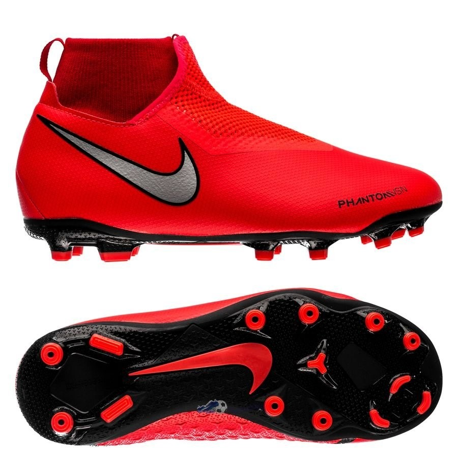 Chaussures De Football Nike Phantom Vision Academy DF Enfant MG Game Over Rouge 2019 Nouveaux