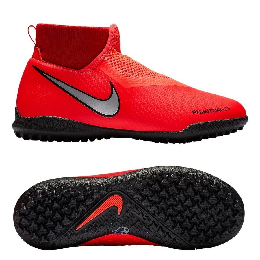 Chaussures De Football Nike Phantom Vision Academy DF Enfant TF Game Over Rouge 2019 Nouveaux