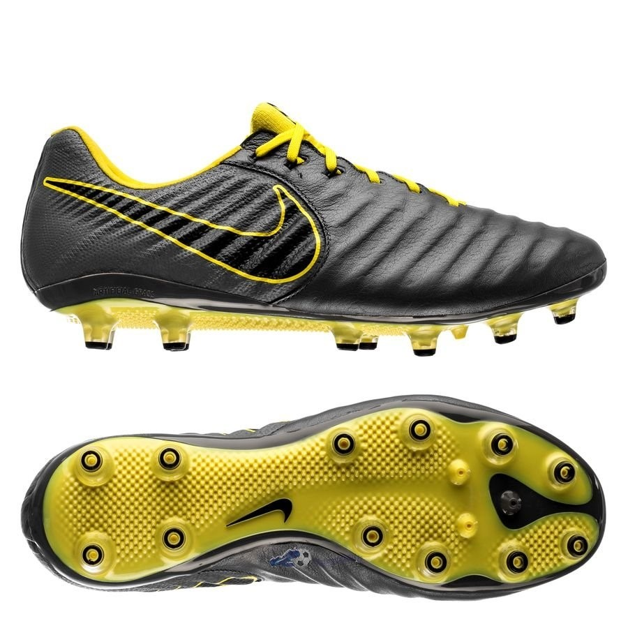 Chaussures De Football Nike Tiempo Legend VII Elite AG PRO Game Over Gris Jaune 2019 Nouveaux