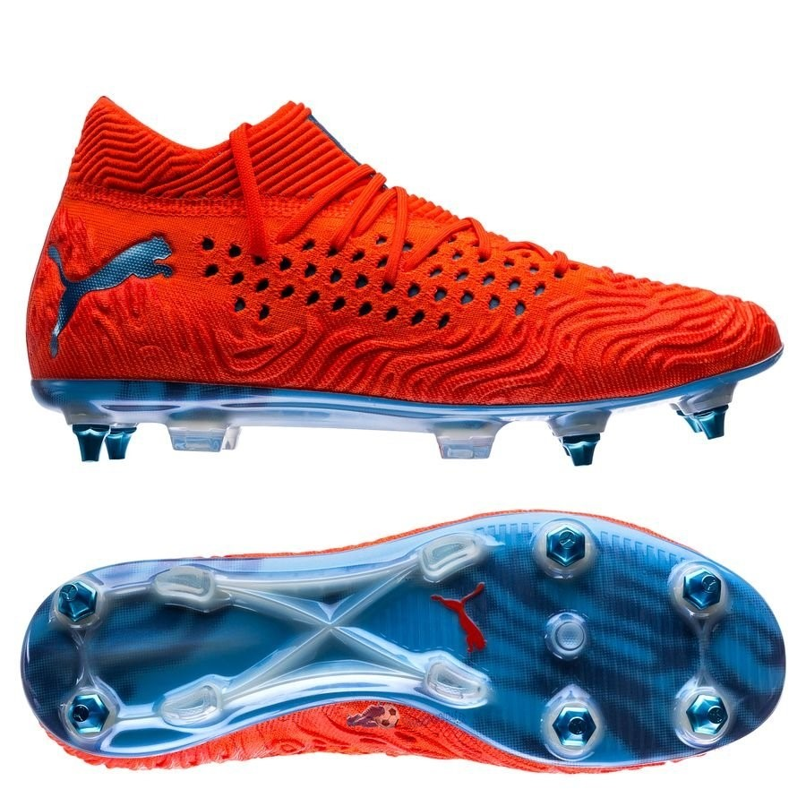 Chaussures De Football Puma Future 19.1 Netfit SG Power Up Rouge 2019 Nouveaux