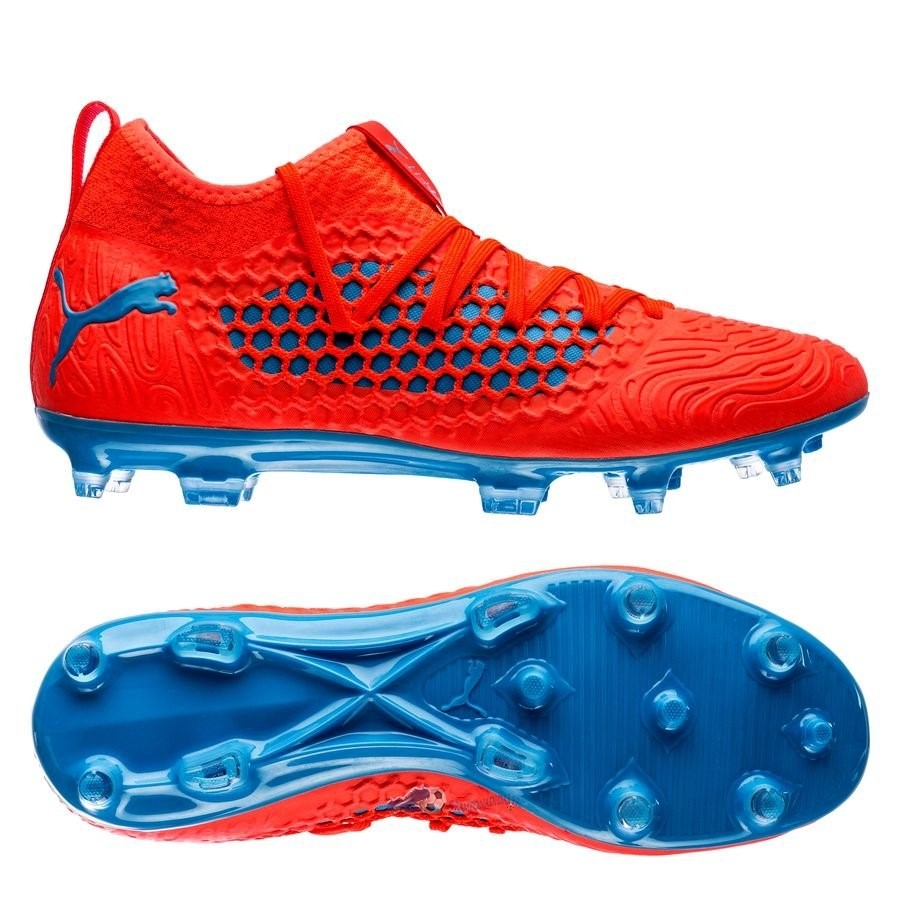 Chaussures De Football Puma Future 19.3 Netfit FG/AG Power Up Rouge 2019 Nouveaux