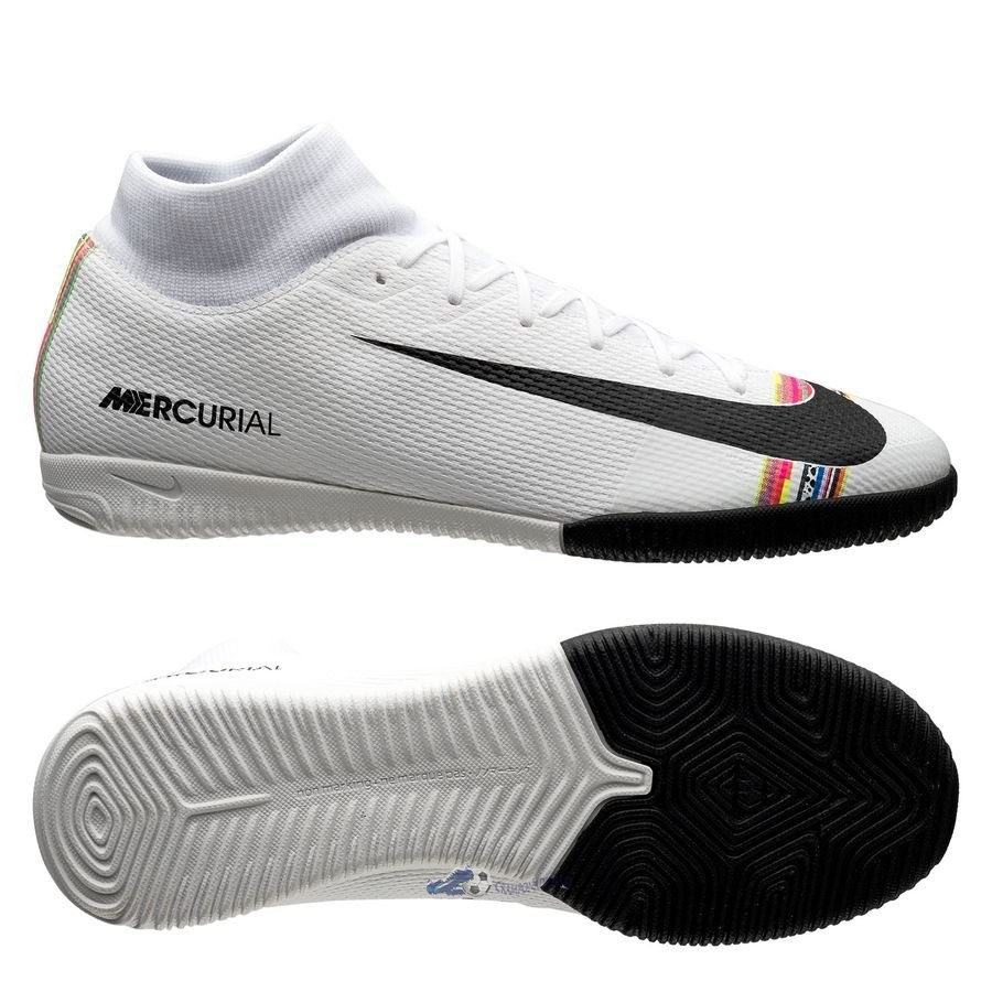 Chaussures De Football Nike Mercurial Superfly 6 Academy IC LVL UP Blanc 2020 Nouveaux