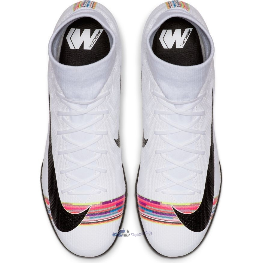 Chaussures De Football Nike Mercurial Superfly 6 Academy TF LVL UP Blanc 2020 Nouveaux
