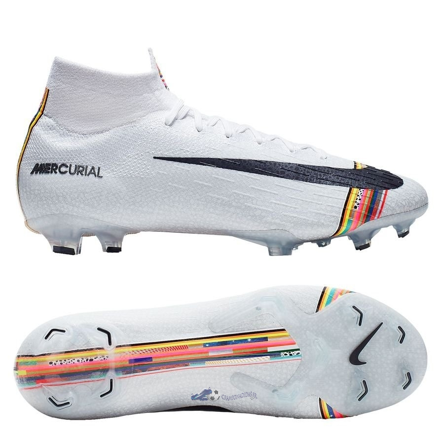 Chaussures De Football Nike Mercurial Superfly 6 Elite FG LVL UP Blanc 2020 Nouveaux