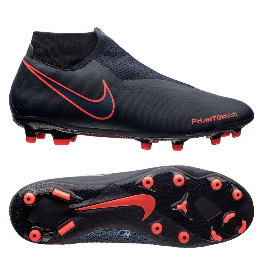 Chaussures De Football Nike Phantom Vision Academy DF MG Fully Charged Noir 2020 Nouveaux