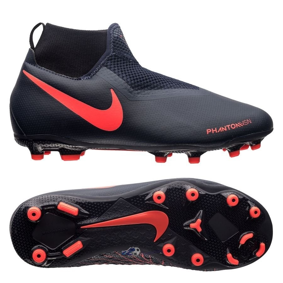 Chaussures De Football Nike Phantom Vision Academy Enfant DF MG Fully Charged Noir 2020 Nouveaux