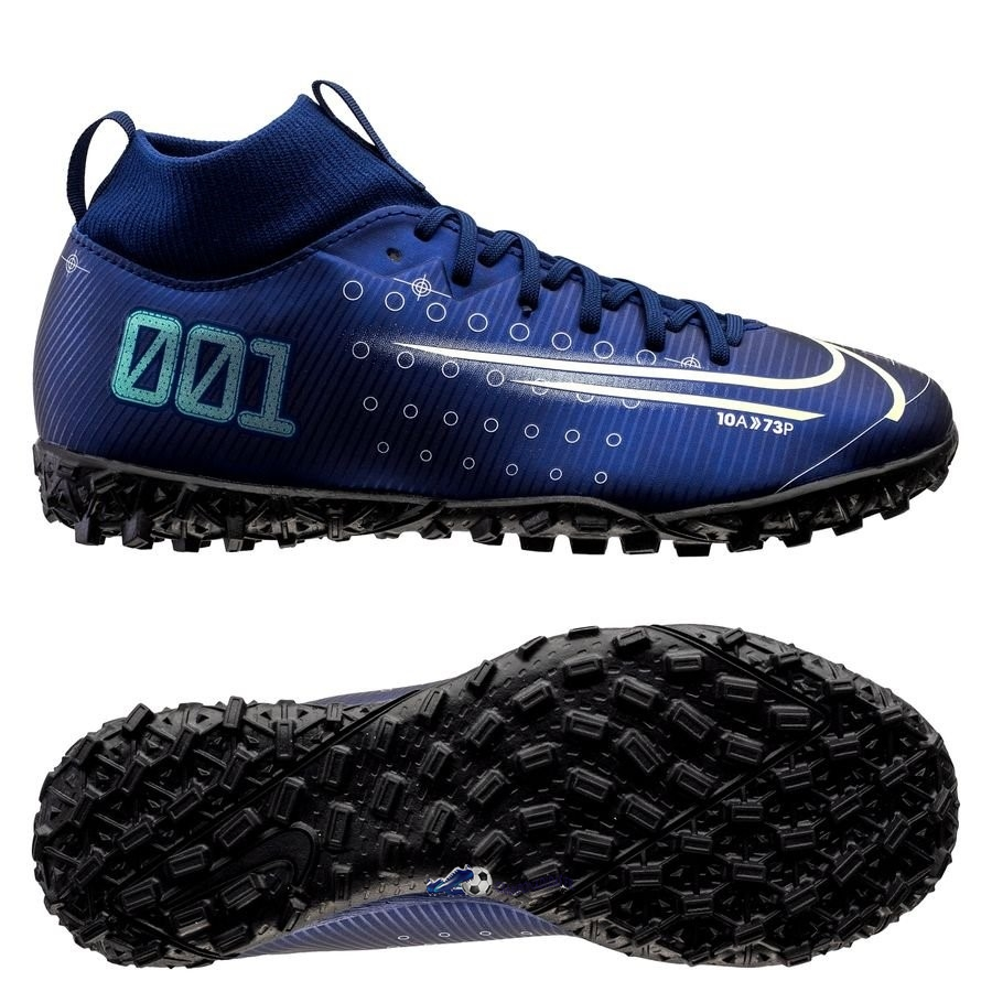 Chaussures De Football Nike Mercurial Superfly 7 Academy Enfant TF Marine 2020 Nouveaux