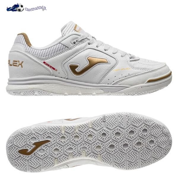 Chaussures De Football Joma Top Flex Rebound 2002 IN Blanc Or 2020 Nouveaux