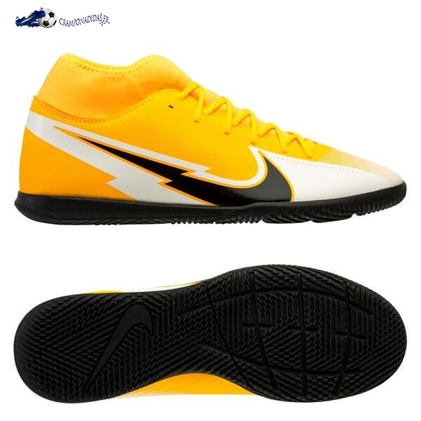 Chaussures De Football Nike Mercurial Superfly 7 Club IC Daybreak Orange Noir Blanc 2020 Nouveaux