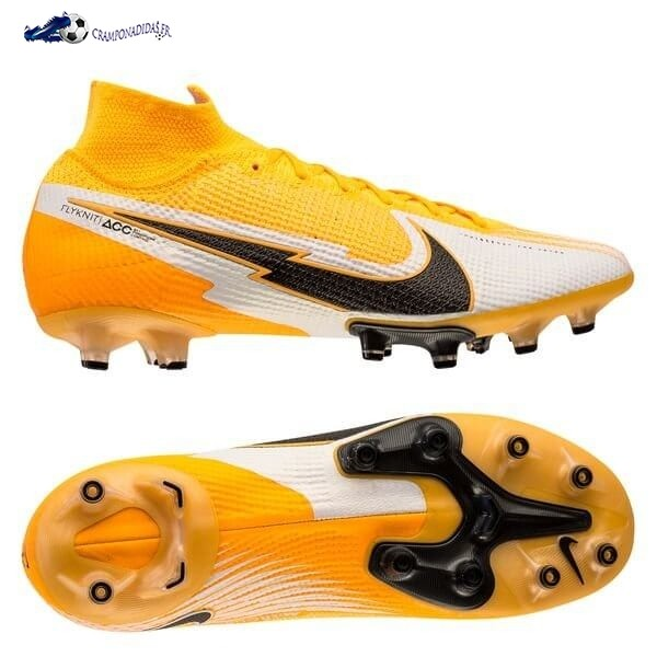 Chaussures De Football Nike Mercurial Superfly 7 Elite AG Daybreak Orange Noir Blanc 2020 Nouveaux