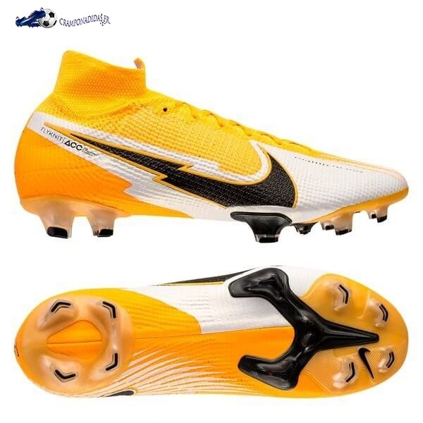 Chaussures De Football Nike Mercurial Superfly 7 Elite FG Daybreak Orange Noir Blanc 2020 Nouveaux