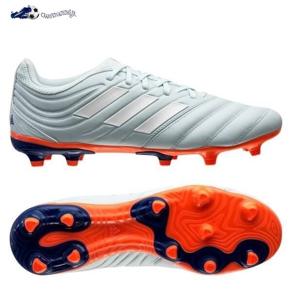 Chaussures De Football Adidas Copa 20.3 FG/AG Glory Hunter Bleu Blanc Orange 2020 Nouveaux